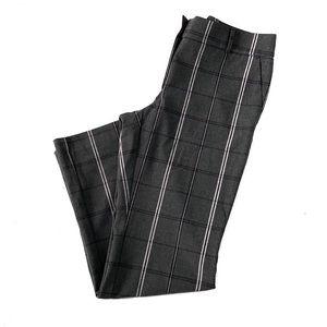Loft Marissa Trouser Size 12 gray plaid